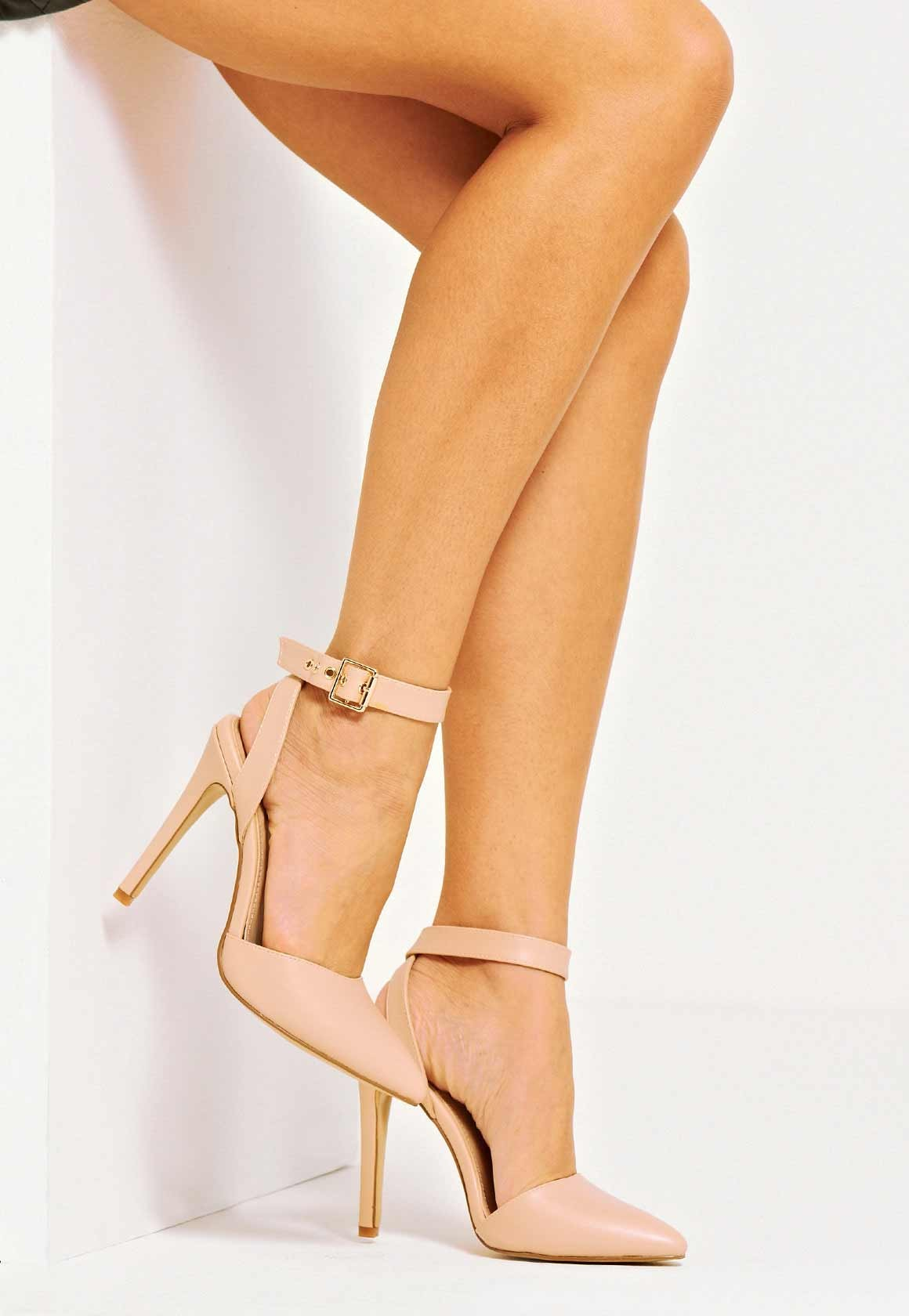 5af4c962b12 Faye Ankle Strap Court Shoe Nude