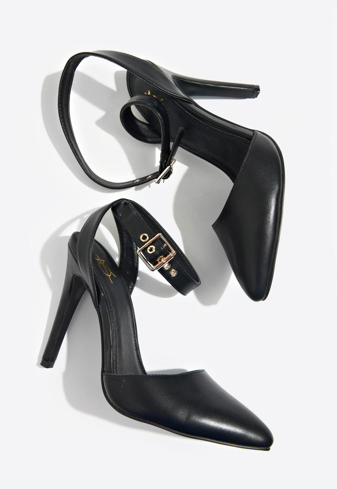 afe5d5803f4 Faye Ankle Strap Court Shoe Black