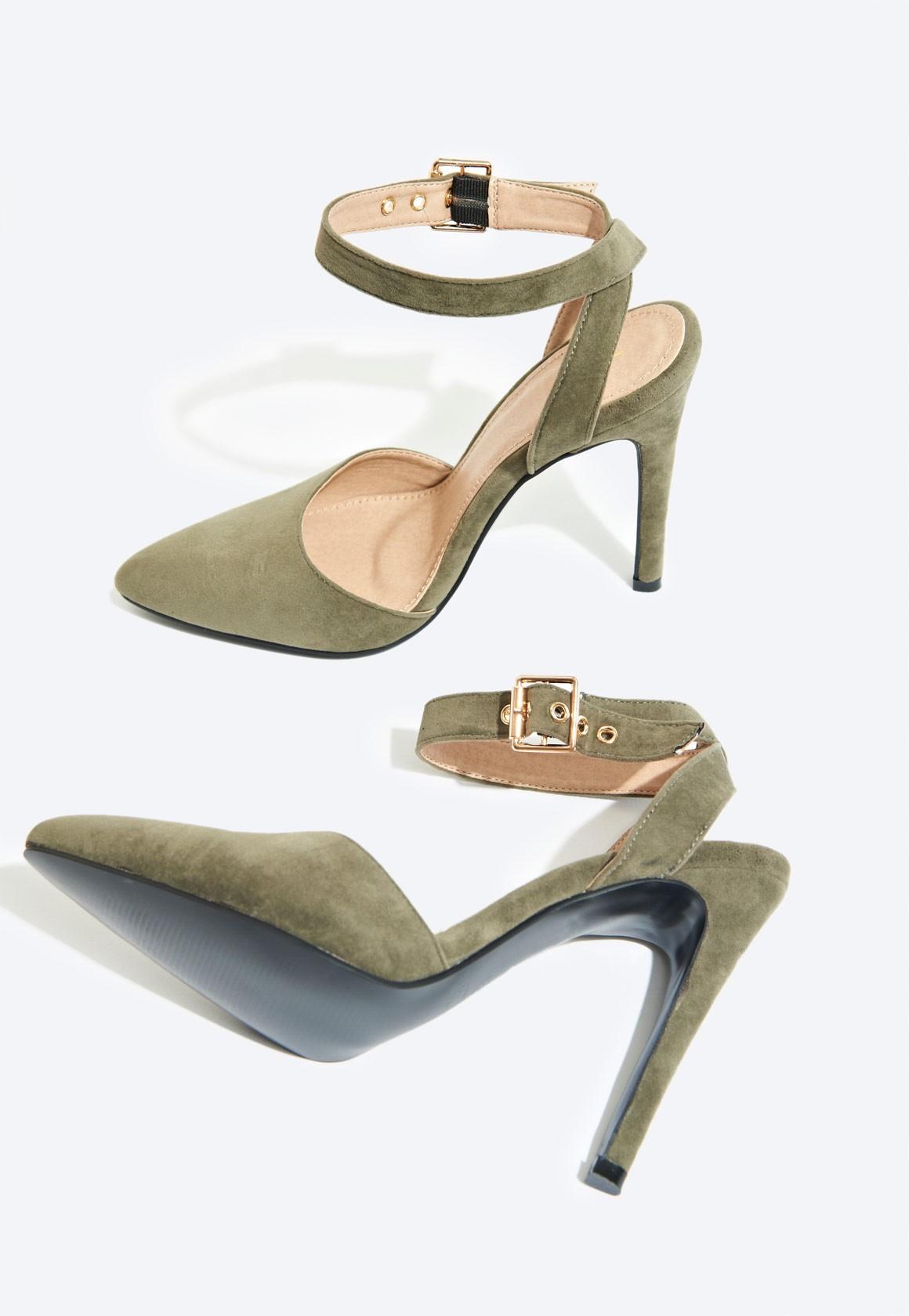 3406a0a3f1a Faye Ankle Strap Court Shoe Khaki