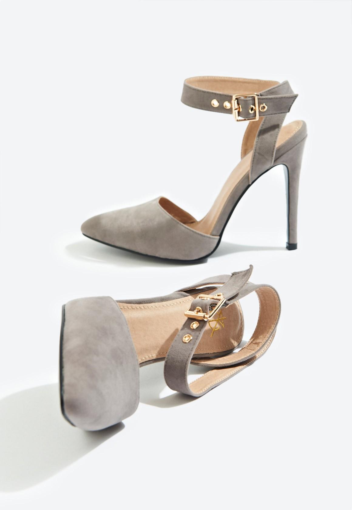21d7231b8d0 Faye Ankle Strap Court Shoe Grey