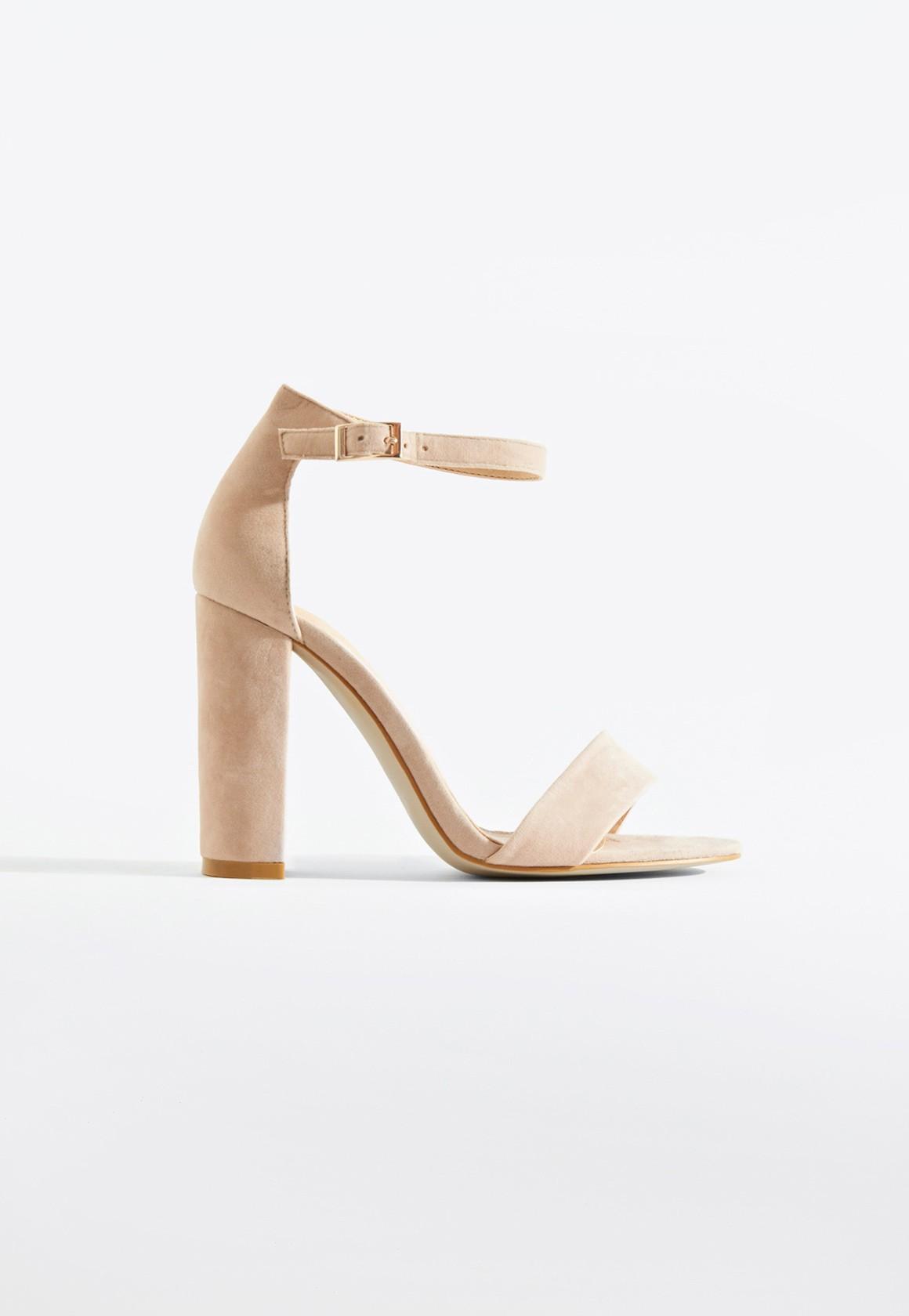49e0dd87db7 Sarah Basic Single Strap Block Heel Sandal Nude