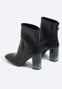 Alexa Smoke Heel Ankle Boot Black