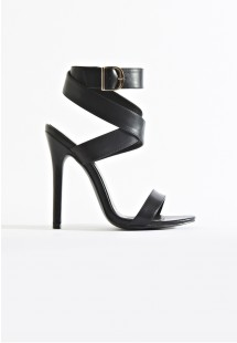 Allie Wrap Around Strap Stiletto Heels Allie Black