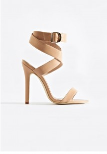 Allie Wrap Around Strap Stiletto Heels Nude