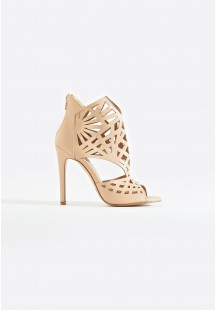Cara Caged Laser Cut Stiletto Heel Nude