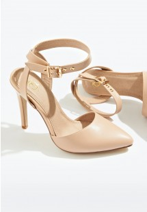 Faye Ankle Strap Court Shoe Nude