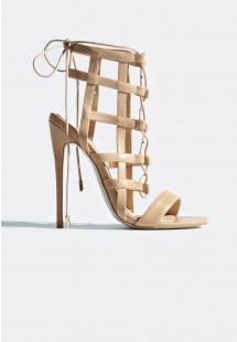 Hattie Caged Stiletto Heels Nude