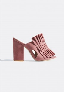 Jayne Pleated Mules Pink
