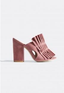 Jayne Pleated Mules Pink