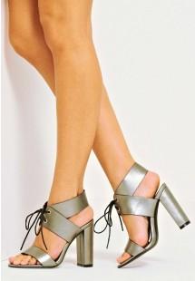 Kendall Lace Up Block Heel Sandal Peuter