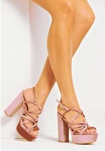 Layla Caged Platform Heel Dusty Pink