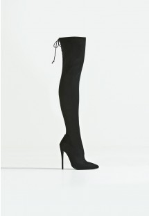 Molly Stiletto Over The Knee Boot Black
