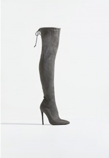 Molly Stiletto Over The Knee Boot Grey