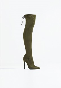 Molly Stiletto Over The Knee Boot Khaki