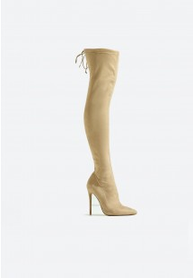 Molly Stiletto Over The Knee Boot Nude