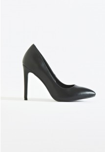 Riley Basic Pointed Toe Court Shoe Black