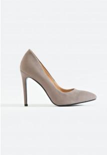 Riley Basic Pointed Toe Court Shoe Grey