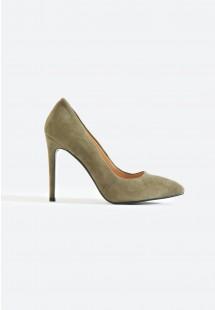Riley Basic Pointed Toe Court Shoe Khaki
