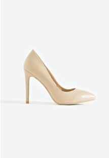 Riley Basic Pointed Toe Court Shoe Nude