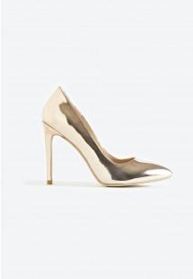 Riley Basic Pointed Toe Court Shoe Rose Gold