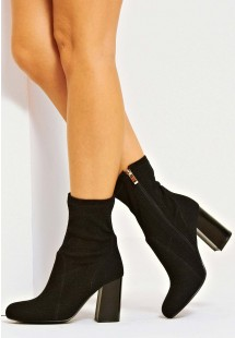 Scarlett Ankle Sock Boot Black Glitter