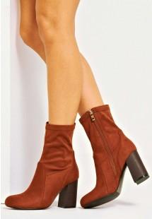 Scarlett Ankle Sock Boot Tan