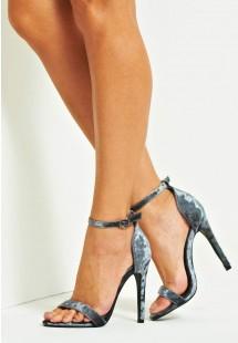 Vicky Basic Single Strap Stiletto Heel Grey