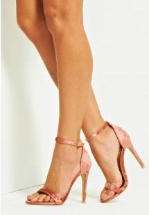 Vicky Basic Single Strap Stiletto Heel Rose Pink